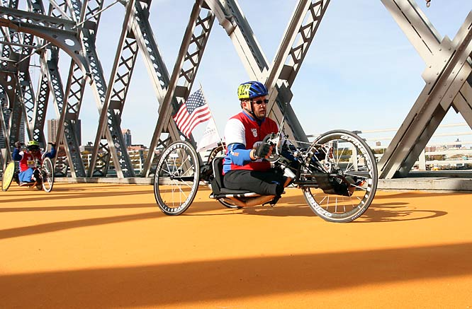 An official wheelchair and handcycle division was introduced into the race in 2000.