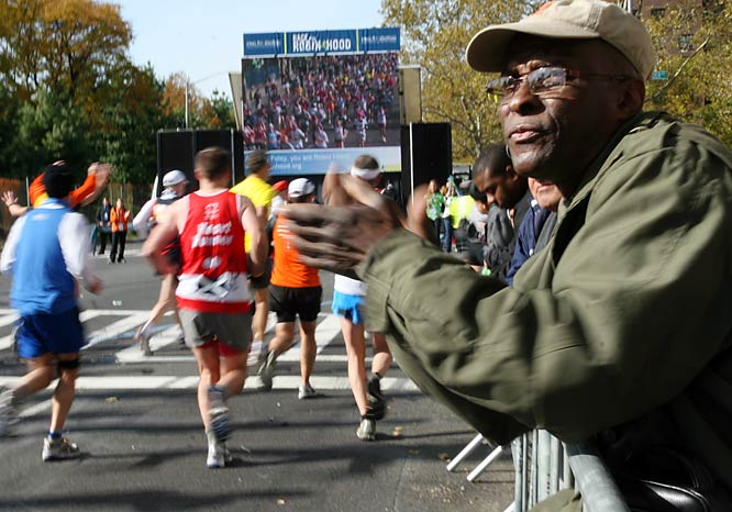 37,899 men and women completed the New York City Marathon on Sunday. It was run in chilly, windy conditions. Each year nearly two million spectators line the marathon's course as it snakes through the city's five boroughs.