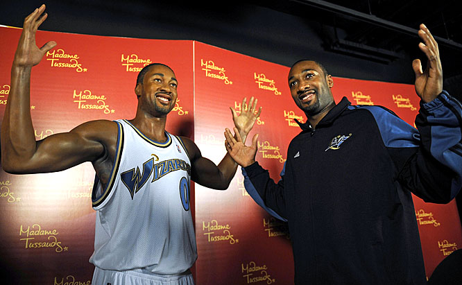 "Arenas became just the third NBA player (after Michael Jordan and Shaquille O'Neal) to be sculpted from wax by Madame Tussauds. Yao Ming will unveil his own figure shortly. ""When they told me I was the third, I said, 'Third this year or third ever?' I was like: 'Why me? I haven't done anything special to be the third.'"" Wizards fans, who have yet to see the injured Arenas play a single game this season after he signed a $111 million contract in the offseason, are probably saying the same thing."