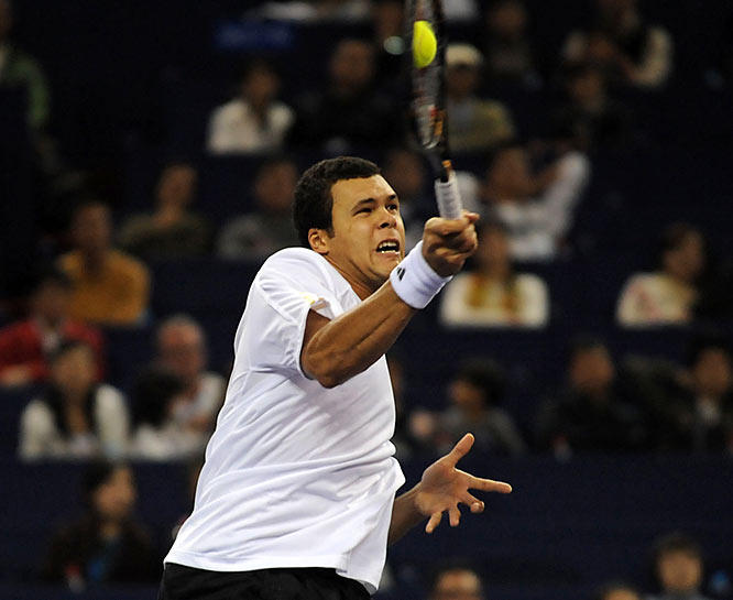 The Frenchman double-faulted and committed a series of errors to lose a crucial tiebreaker 0-7.