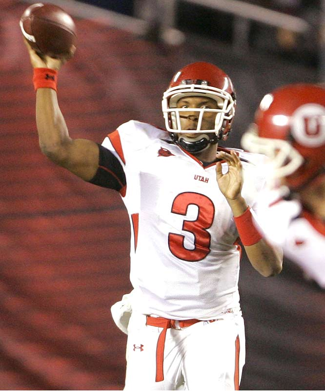 Utes QB Brian Johnson wasted little time against the hapless Aztecs, throwing for five TDs and 283 yards in his team's landslide win. Next up for Utah: the showdown with BYU.