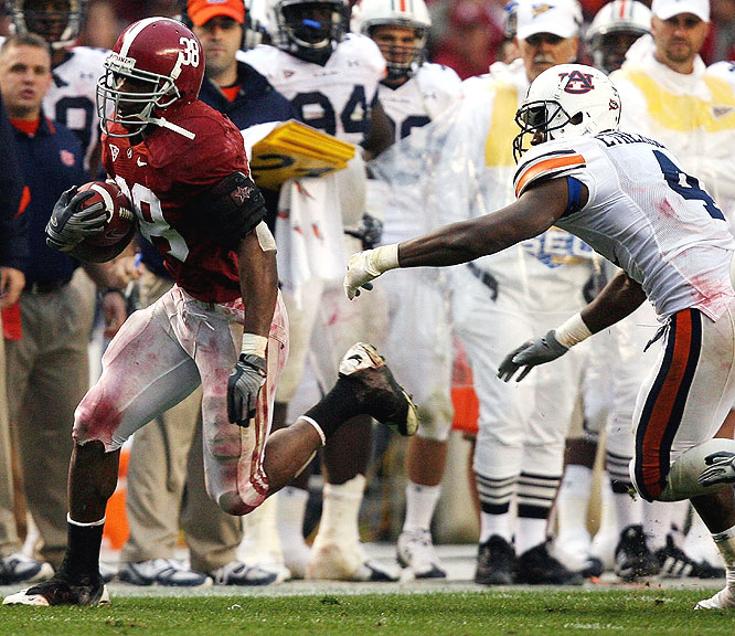 The Auburn defense did little to slow Glen Coffee, who rushed for 143 yards in 20 carries including a 41-yard TD run.