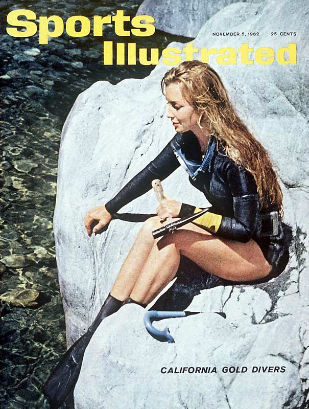 When most people see a beautiful woman in a swimsuit on the cover of SI, they think one thing -- swimsuit issue. That wasn't true of the November 1962 cover, however, which featured California skin diver Mary Anderson.