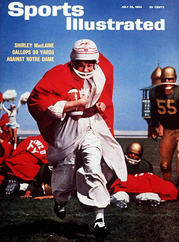 In this 1964 cover story, Dan Jenkins writes about the latest in a rich history of football movies. In this one -- 'John Goldfarb, Please Come Home' -- Shirley MacLaine plays a cheerleader who scores the winning touchdown in a game played in the desert.