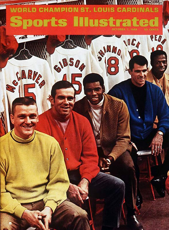 World Series champs in '67, the Cardinals (the highest-paid team in baseball history at the time) looked poised for back-to-back championships in their matchup against the Tigers. Even with '68 MVP and Cy Young Award-winner Bob Gibson (22-9, 1.12 ERA, 268 strikeouts), the Cardinals fell in seven games.
