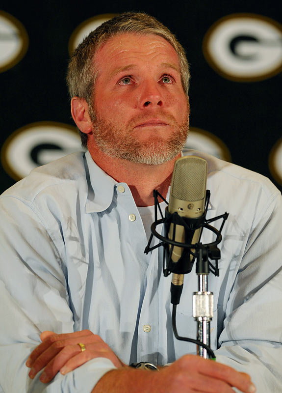 He's retired. He isn't. He's retired. He isn't -- and now he wants his old starting job back. And if he can't have it, he's demanding a trade. Or maybe not. Or ... yes, he is! He's going to the Vikings. No, he's not! Favre's good name took a beating with this summer charade. Hope it was worth it.