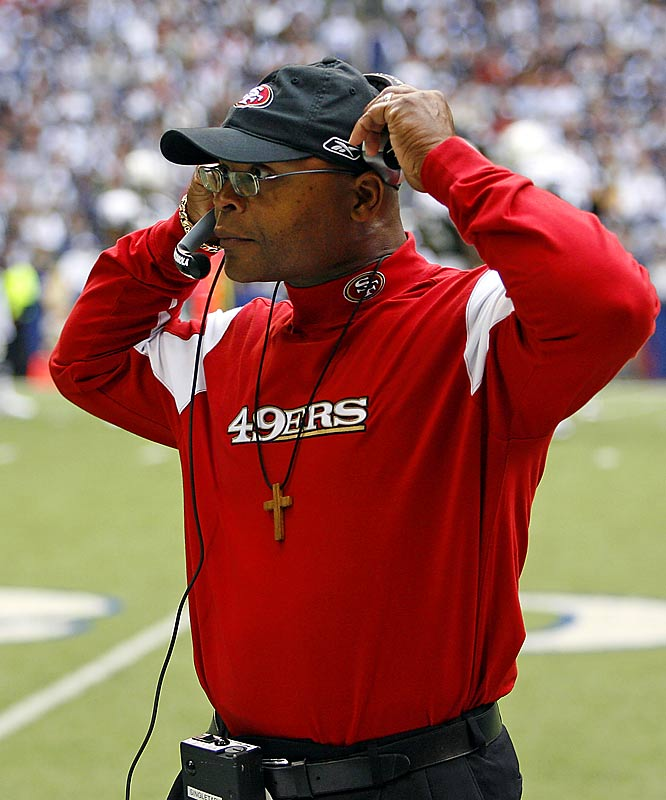 The intense stare, the force of personality, his history as a feared middle linebacker in the NFL probably should have been enough. But Singletary, the new coach of the 49ers, felt that dropping his pants for a halftime speech was needed to rally his guys. Another typical rookie mistake.