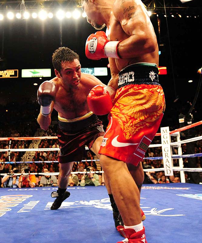 Ringside statistics credited Pacquiao with 45 power punches in the seventh round. De La Hoya only registered four.