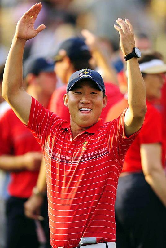Although he made 20 cuts in 26 starts in 2007, Anthony Kim skyrocketed to the top of the golf world in 2008, notching the first two wins of his career and finishing in the top-10 eight times. Kim also earned a spot on the United States' victorious Ryder Cup team (he defeated Sergio Garcia, 5 and 4 on Sunday), and finished the year ranked sixth on the money list.