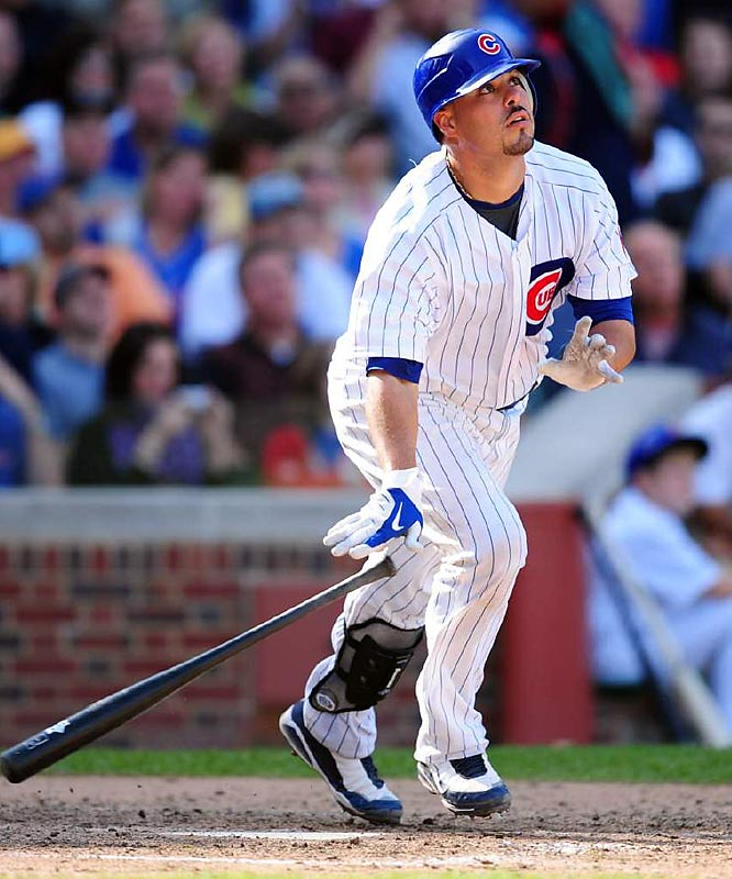 Soto became the first rookie catcher to start for the National League All-Star squad and earned the league's Rookie of the Year award in 2008. For the season, he batted .285, hit 23 home runs and drove in 86 while helping the Cubs win the NL Central.