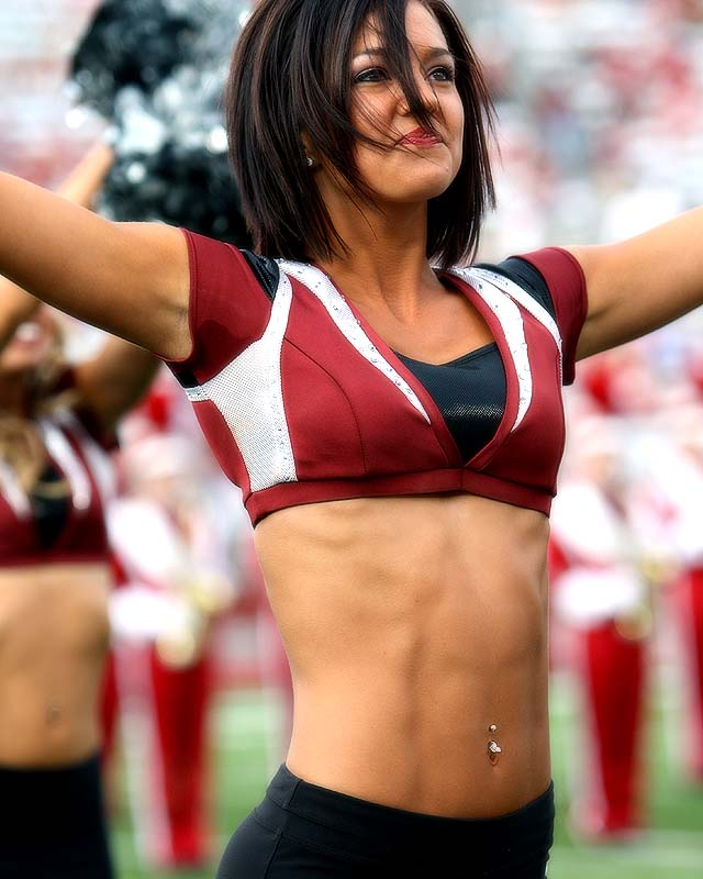 """Meet Chantel, a Washington State junior and proud Cougar cheerleader. When Chantel's not dreaming about her future career as a Dallas Cowboys cheerleader and advertising executive, she's dancing to Rhiana's latest tunes, lusting after T.I. and watching her Oklahoma City Thunder. Want to find out more? Click the """"20 Questions"""" link below."""