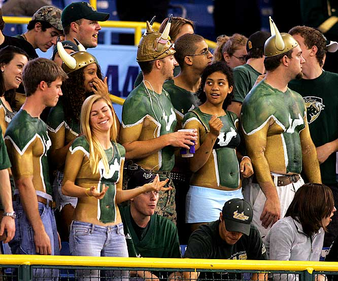 Body paint and horns are required accessories for South Florida fans.
