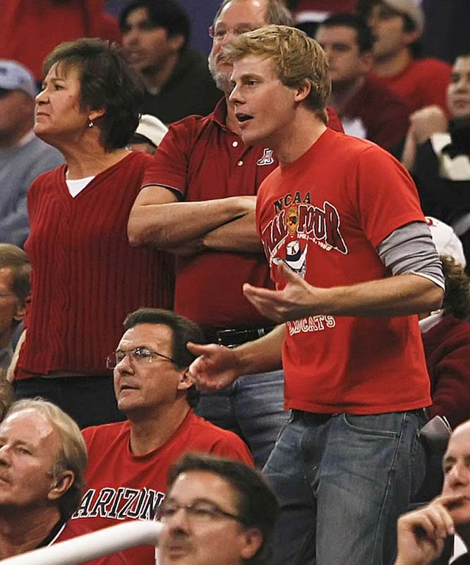 Arizona fans don't hide their displeasure well.