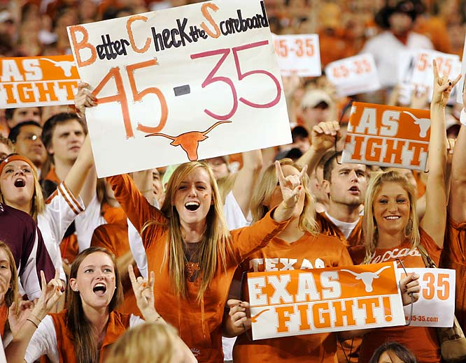 Just as Texas Tech fans reminded the pertinent parties about their upset over Texas, Texas fans reminded the same people about their upset over Oklahoma.