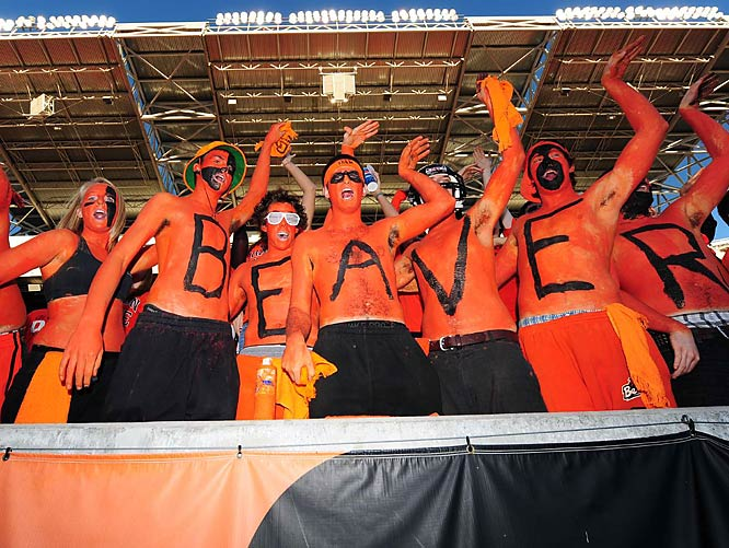 There was no shortage of orange and black body paint in Corvallis this year.