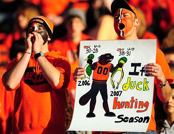 Oregon State fans always rise to the occasion for the annual Civil War with Pac-10 and in-state rival Oregon.