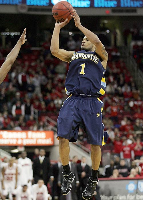 Marquette may be slightly down, but don't count them out yet -- for some easy New Years day viewing, check out Dominic James (pictured) and the Golden Eagles as they try to pull an upset off to start the year.