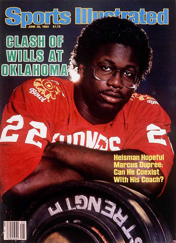 Oklahoma RB Marcus Dupree had all the skills to win the 1983 Heisman, but the bigger question was whether he could co-exist with Coach Barry Switzer. The answer was a resounding NO, as Dupree quit after the Sooners' fourth game and never reached the success he seemed destined to achieve.