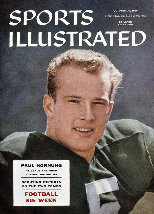 Paul Hornung (1935, pictured)  Bobby Ross (1936)  Bill Rodgers (1947)  Jim Harbaugh (1963)  Petr Klima (1964)  Tony Graziani (1973)  Paul Shirley (1977)  Hanley Ramirez (1983)