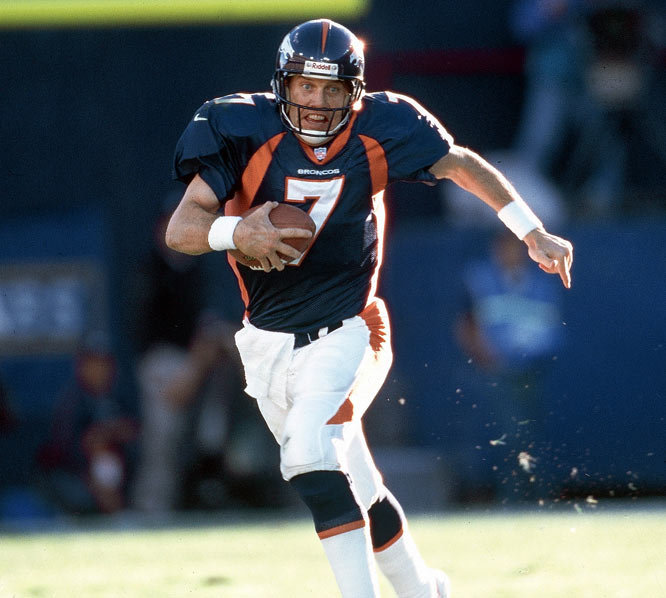 John Elway surpasses 3,000 passing yards for the season for the 12th consecutive time.