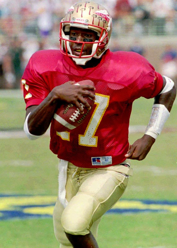 Florida State's Charlie Ward wins the Heisman Trophy, beating out Tennessee's Heath Shuler, Alabama's David Palmer and San Diego State's Marshall Faulk.