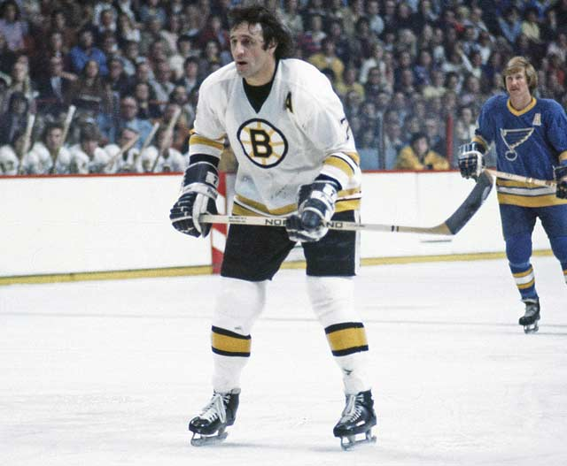 Boston's Phil Esposito becomes the sixth player in NHL history to record 500 goals.