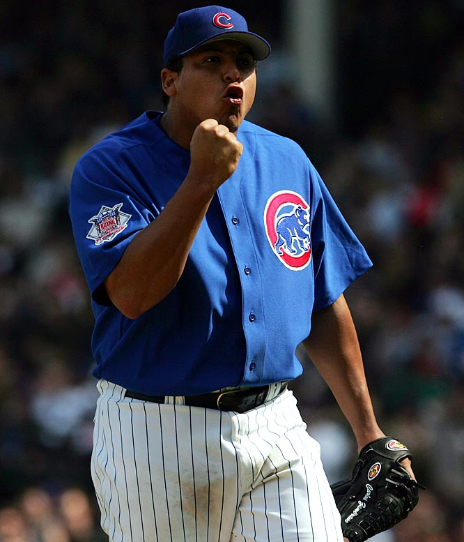 The Cubs' ace righty is known for his visible emotions and electric stuff. He's an imposing figure on the mound, who hits the mid- to high-90s with his fastball. One of the best-hitting pitchers in the game, Zambrano's 16 career home runs and 46 RBIs have helped him earn two Silver Slugger awards.