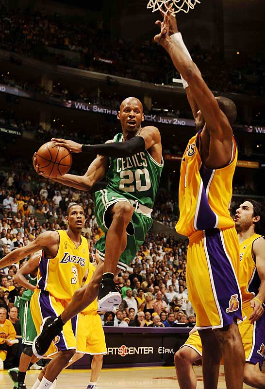 Trailing 2-1 in the series, the Lakers jumped out to a 35-14 first quarter lead in Game 4, and led by as many as 24 points. The Celtics then mounted the biggest NBA Finals comeback since 1971 to win the game 97-91. The Celtics finished off the series five days later with a lopsided 131-92 win at home.