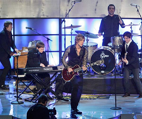 Pop group Matchbox 20 performed during the awards ceremony.