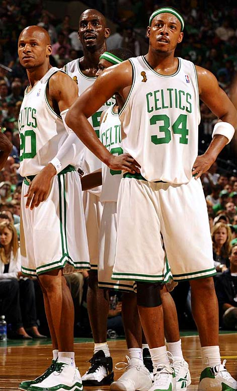 In separate blockbuster trades before the season, Danny Ainge acquired Ray Allen and Kevin Garnett to pair with holdover star Paul Pierce. Those moves, along with the Celtics' all-for-one commitment to defense, set the stage for a 30-4 start, the NBA's biggest single-season turnaround (42 more victories) and the franchise's first championship since 1986.