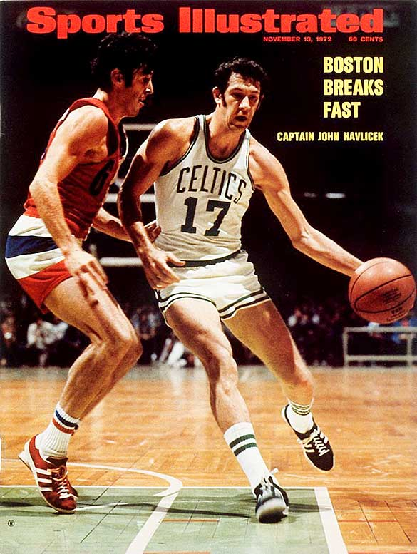 The Celtics began the season with a 10-game winning streak and added another one at midseason to move to 40-7. Dave Cowens (20.5 ppg, 16.2 rpg) produced an MVP season and got plenty of help from John Havlicek (23.8 ppg, 7.1 rpg, 6.6 apg), Jo Jo White (19.7 ppg) and Paul Silas (13.3 ppg, 13.0 rpg). Boston lost to the Knicks in the Eastern Conference finals in part because Havlicek was slowed by a shoulder injury.