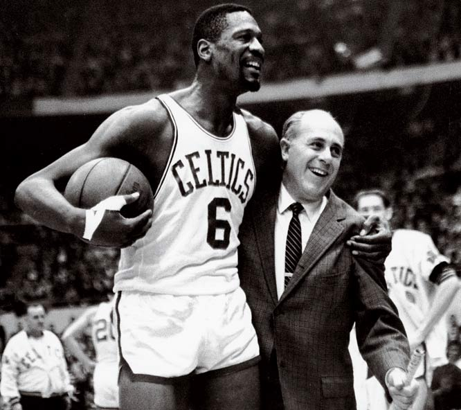 Boston began the season with an 11-game winning streak and tacked on a 16-game run to bring it to 41-7 a little past the midway point of the season. Behind Russell (14.1 ppg, 24.1 rpg), Sam Jones (25.9 ppg) and sixth man John Havlicek (18.3 ppg), Boston set an NBA regular-season record with 62 victories (against 18 losses).