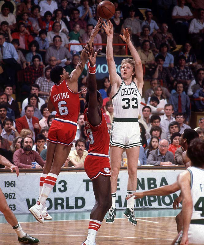 The streak (tied for the fifth longest in league history entering the 2008-09 season) was part of the Celtics' league-best 63-19 season, but Larry Bird & Co. missed a chance to repeat as NBA champions when they lost in the Eastern Conference finals to the Julius Erving-led 76ers.