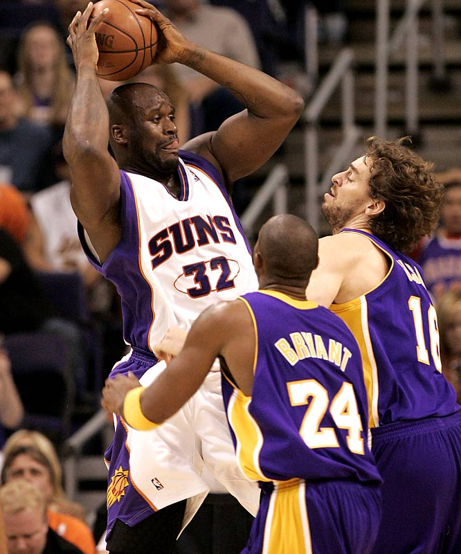 Shaq and Kobe meet up for the second time this season. The Lakers cruised past the Suns 105-92 in Phoenix on Nov. 20 despite Kobe's 8-of-23 performance from the field. On paper, Phoenix's visit stands as the toughest test for the Lakers on a four-game homestand, which continues against Sacramento, Minnesota and New York.
