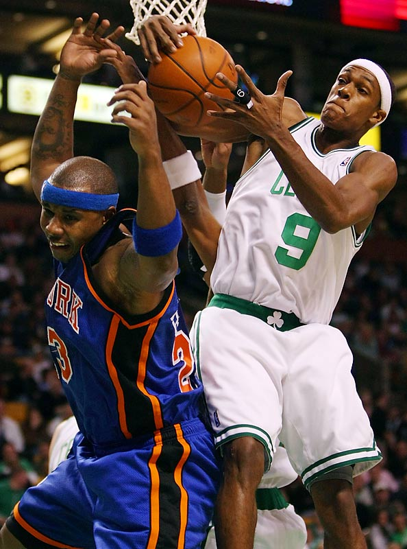 Quentin Richardson (left) remains unimpressed with the Celtics. Last season, a day before a visit in Boston, he downplayed the Celtics' hot start; the Knicks then lost by 45 points in a nationally televised game. Last month, after another Knicks loss at Boston, Richardson questioned the defending champions' toughness. New York, incidentally, has lost seven consecutive games in the series.