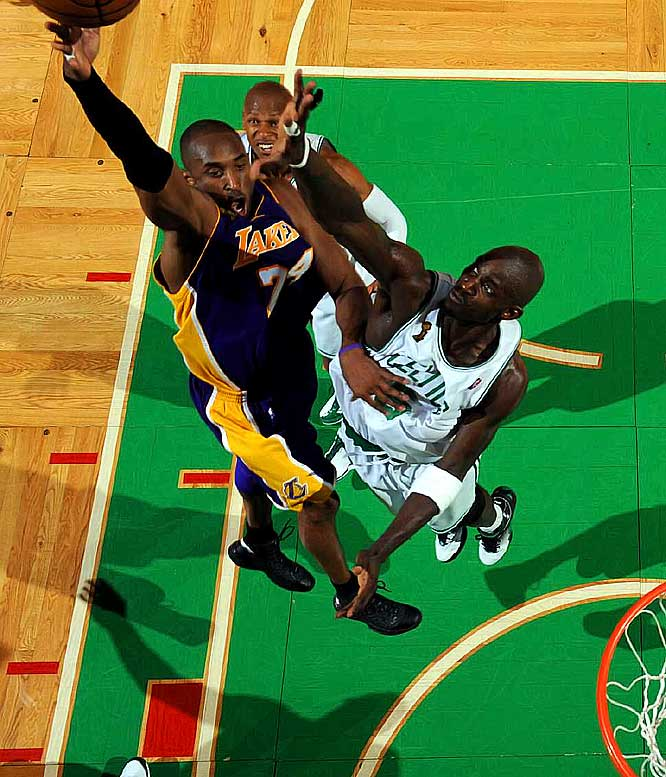 "The highly anticipated NBA Finals rematch comes with the Celtics off to a historic start and the Lakers not too far behind. Said Kobe Bryant of the defending champion Celtics: ""They're still the barometer which we judge ourselves by.''"