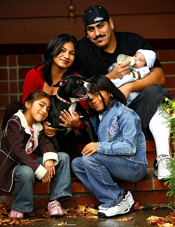 Zip's posse (clockwise from left): Vanessa, Berenice, Jesse, Francisco, Eliana.