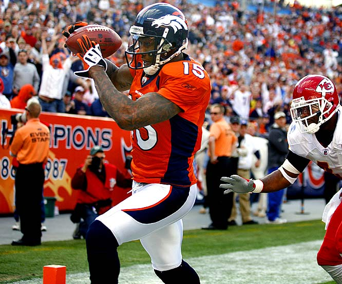 Marshall hauled in 11 Jay Cutler passes for 91 yards and two touchdowns (including the game-winner early in the fourth quarter) in the Broncos' 24-17 victory over the Chiefs. It was Marshall's most receptions since Week 1, when he caught 18 for 166 yards.