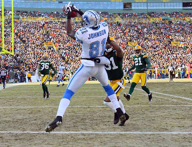 The Lions suffered their 16th loss, but it didn't come without another solid effort from Calvin Johnson. The second-year wideout caught nine passes for 102 yards and two touchdowns.