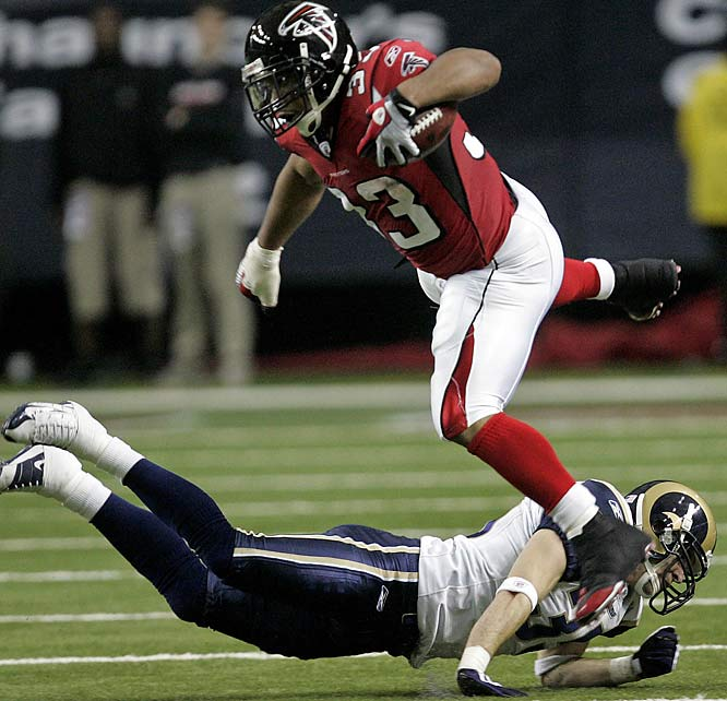 Turner capped his first season as a starter with his second 200-yard rushing game of the year. He ran for 208 yards and a touchdown as the Falcons held off the Rams for a 31-27 win at the Georgia Dome.