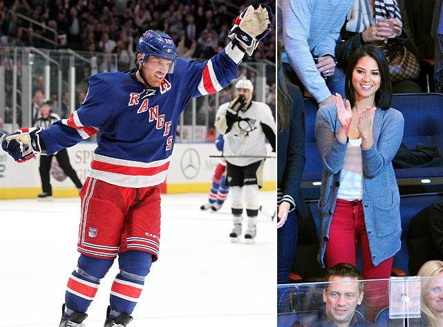 "Munn was called a good-luck charm when the Rangers went on a six-game win streak after she started dating the star center in November 2011. Alas, the romance didn't last and by January 2012 a source was telling Us Weekly, ""She ended it with him. She had to. It's not really complicated. She just realized she liked him as a friend and nothing more."""