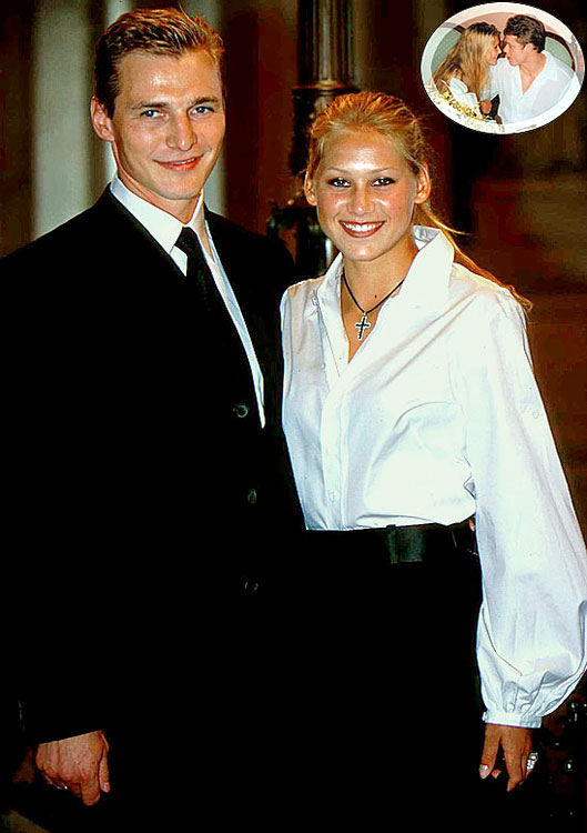 Fedorov began dating Kournikova in 1997 and claimed the couple had secretly married in July 2001 but were divorced shortly thereafter. Kournikova has never confirmed this.  Kournikova also dated Pavel Bure (inset) in 2000 and the two were rumored to be engaged.