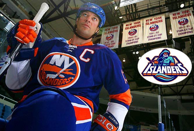 Automatic points for keeping the fish sticks guy (inset) off of it. Going back to the old colors, again, is nice if only for reminding Islanders fans that this was a dominant, winning team once upon a time.