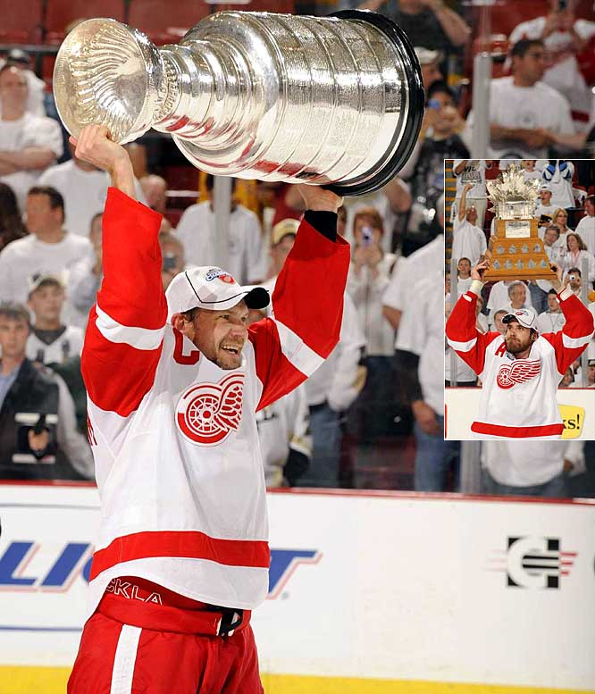 The Stanley Cup Final was made for the marquee with the storied Red Wings battling Sidney Crosby, Evgeni Malkin and the powerful young Penguins. After a thrilling six-game series, Wings defenseman Nicklas Lidstrom became the first European captain to lead an NHL team to the championship. Fellow Swede Henrik Zetterberg was named the Conn Smythe Trophy-winner as Playoff MVP.