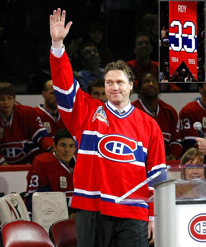 "Their split in 1995 was bitter, but the Hall of Fame goaltender returned to Montreal on Nov. 22 to have his number 33 retired as part of the Canadiens' year-long Centennial celebration. Roy, a three-time Vezina Trophy winner, led the Habs to Stanley Cups as a rookie in 1986 and in 1993. ""Tonight, I am coming home,"" he told the sold-out crowd at the Bell Centre."