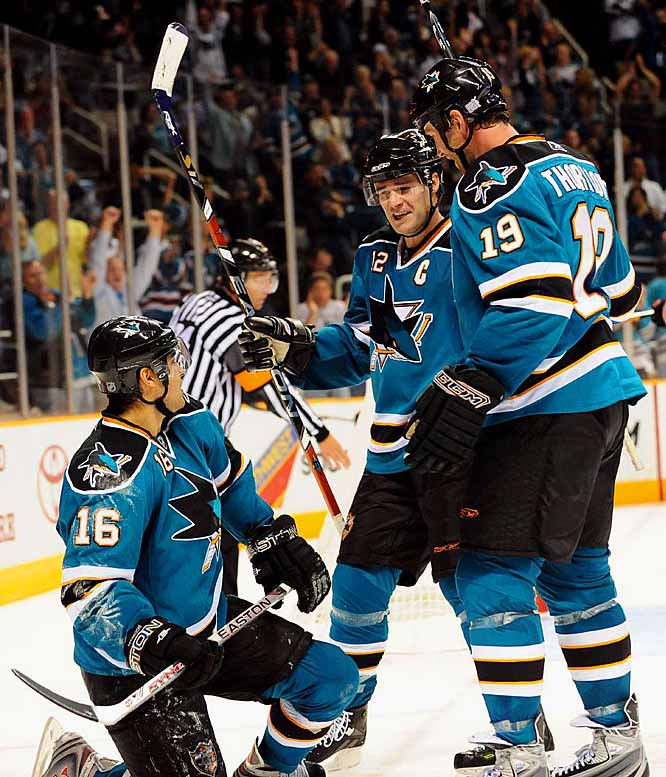 "With a 3-2 win over the Kings on Dec. 15, the Sharks broke an NHL set by the Bruins in 1929-30 for the best start after 30 games: 52 of a possible 60 points. ""I've never been a part of something like this,"" said captain Patrick Marleau. ""We push each other in this room. The guys hold each other accountable. I mean, we're a fun group -- but at the same time, we demand a lot from each other. And I think that's why we've had the start that we've had."""