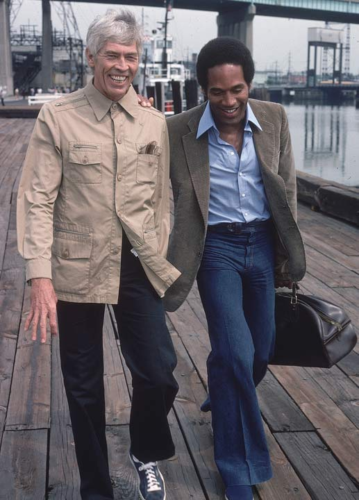 Even before his NFL career ended, Simpson already was looking toward his post-NFL life in Hollywood. This photo, taken in June 1978, shows Simpson (with James Coburn) on the set of 'Fire Fight'. Simpson also appeared in 'Capricorn One', 'The Cassandra Crossing', 'The Towering Inferno', 'The Naked Gun' and the TV mini-series 'Roots.'