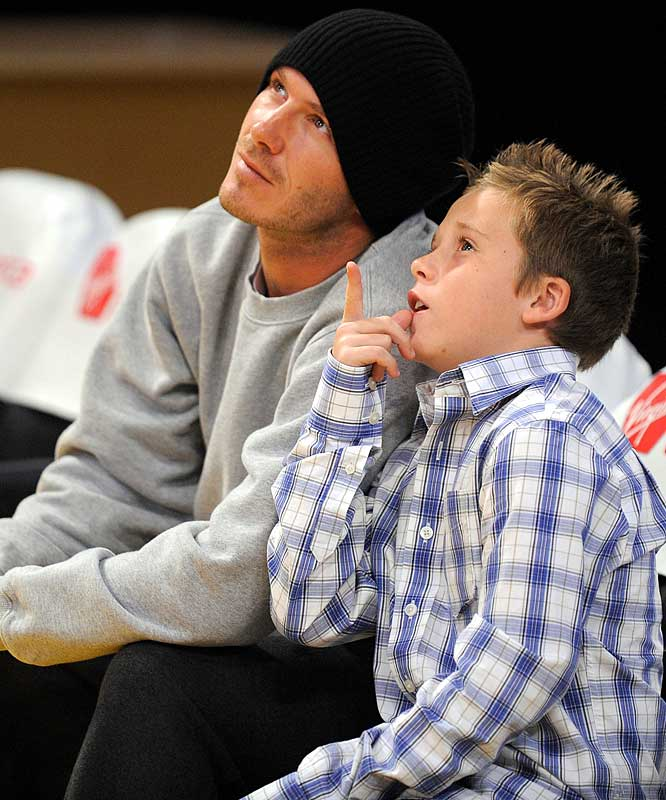 "It's fair to say Beckham is more known for sitting courtside at Lakers games than for anything he has done on the field for Galaxy. Not only did Becks take in a couple Lakers games with his sons last week, but also the Beckhams and the Cruises (as in ""TomKat"") were in New York for Thanksgiving, taking the kids to the circus, Central Park and Katie Holmes' play on Broadway. Now if Beckham can just do something to make people want to watch him play soccer in the States."