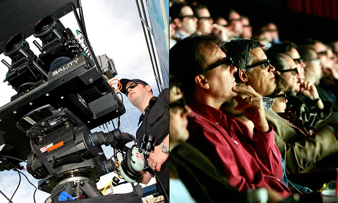 The NFL aired its first game in 3D last week in three theaters in L.A., Boston and New York, and while no one should be forced to watch the Chargers play the Rams in 1D, 2D or 3D, the technology was a success. There are plans to air the BCS National Championship Game to 150 digital movie theaters in 3-D in January. I'm guessing none of them will be in Austin, Texas.