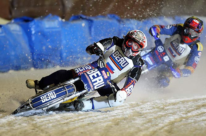 Balance and nerves were on display at the Ice Speedway World Championships in Inzell, Germany.